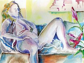 Kath Nude 23cm x 30cm Watercolour